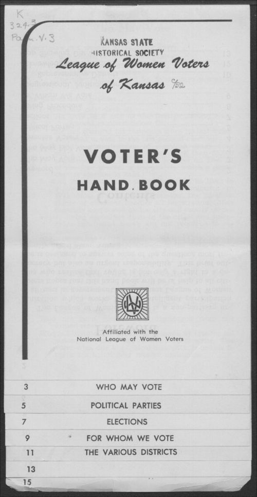 Voter's Hand Book - Page