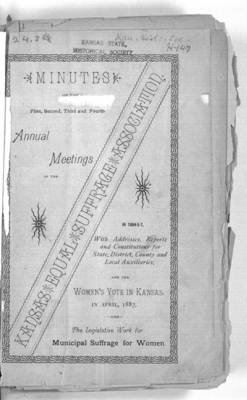 Minutes of the first, second, third and fourth annual meetings of the Kansas Equal Rights Suffrage Association - Page