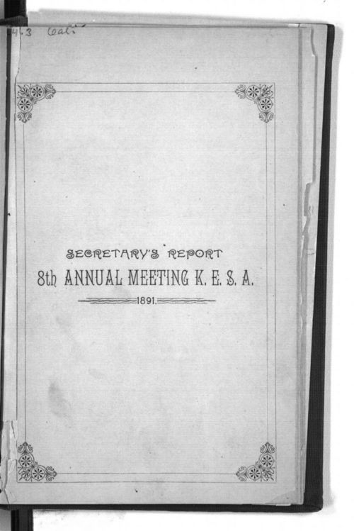 Secretary's Report, 8th annual meeting of the Kansas Equal Suffrage Association - Page