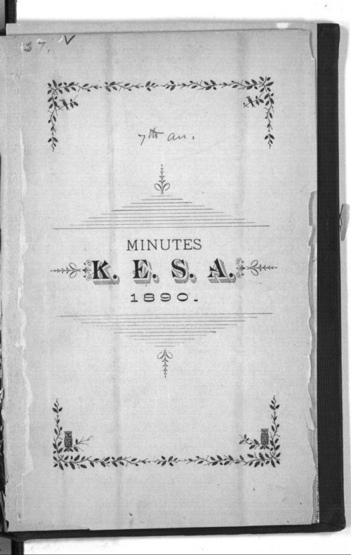 Minutes of the seventh annual meeting of the Kansas Equal Suffrage Association in 1890 - Page
