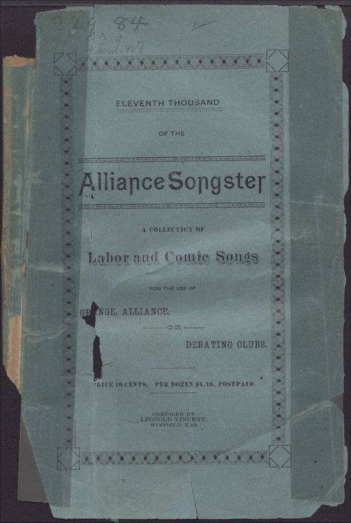 The alliance and labor songster - Page
