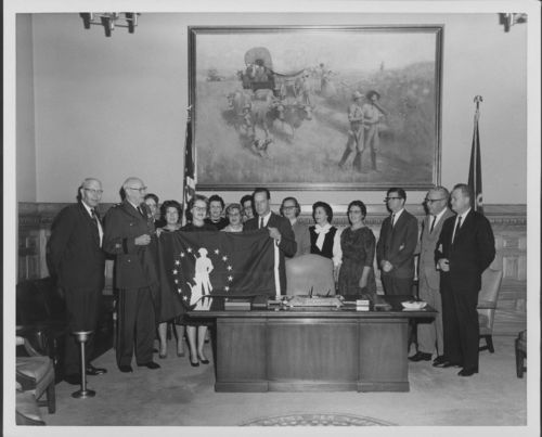 Governor John Anderson Jr. in Governors' Office - Page