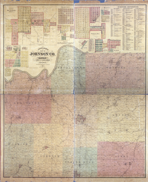 Map of Johnson County - Page
