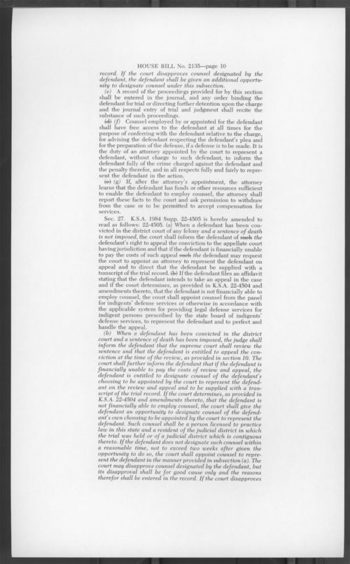 An act concerning crimes and punishments and procedures relating thereto - Page