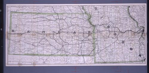 Kansas via Missouri Pacific Railway Map - Page