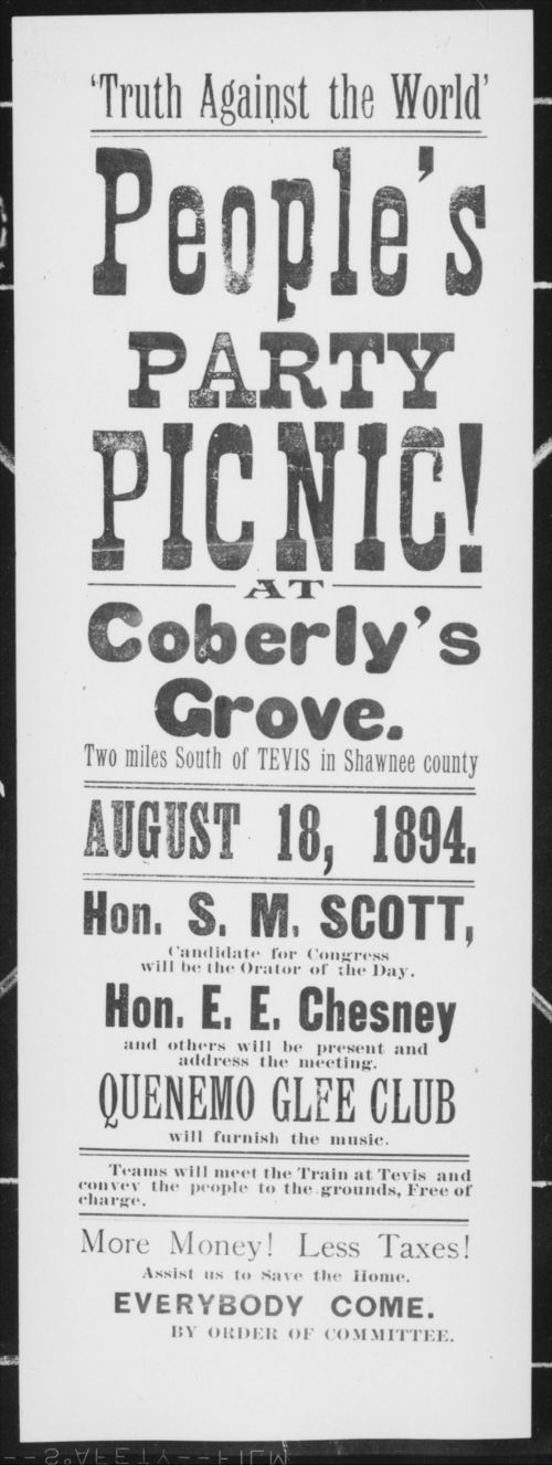 """Truth Against the World' People Party Picnic! at Coberly's Grove - Page"