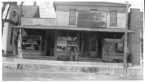 Jack's barber shop and J.D. Chambers undertaker, De Soto, Kansas - Page