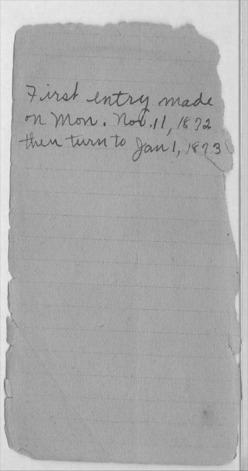 Henry Raymond diary - Page