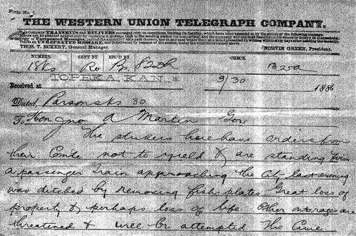A.O. Brown to Governor John Martin - Page