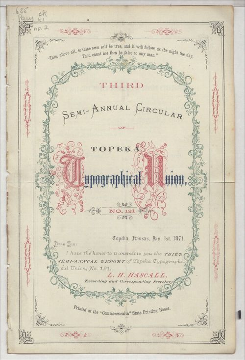 Third semi-annual circular, Topeka Typographical Union No. 121 - Page