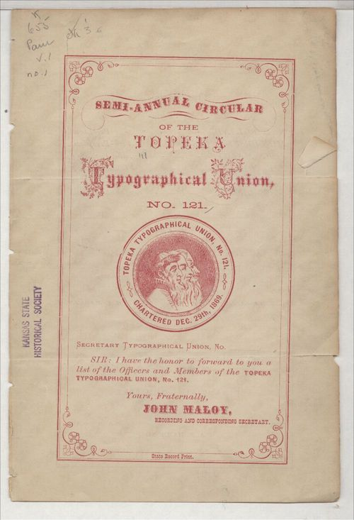 Semi-annual circular of the Topeka Typographical Union No. 121 - Page