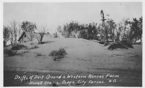 Drifts of dust around a western Kansas farm - Page