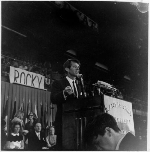 Robert Francis Kennedy speaking at Kansas State University, Manhattan, Kansas - Page