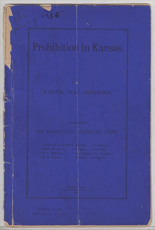Prohibition in Kansas.  Facts not opinions - Page