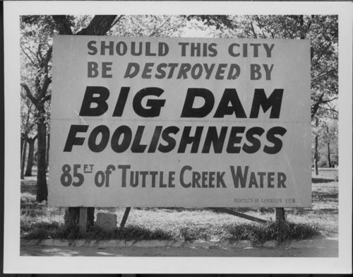 Big Dam Foolishness sign, Randolph, Kansas - Page