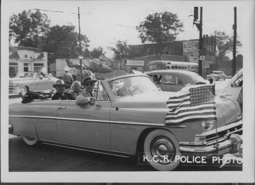 President Harry Truman viewing flood damage, Kansas City, Kansas - Page