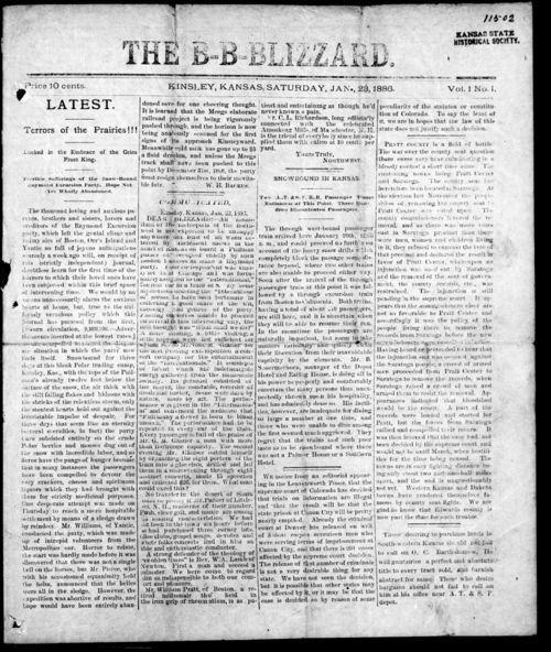 The B-B-Blizzard, Kinsley, Kansas - Page