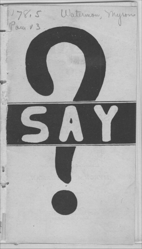 Say? - Page