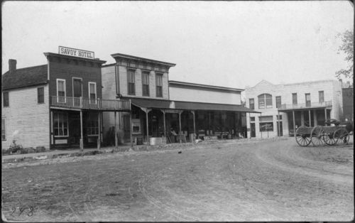 West side of the square, Randolph, Kansas - Page