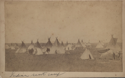 Indian scout camp, Indian Territory - Page