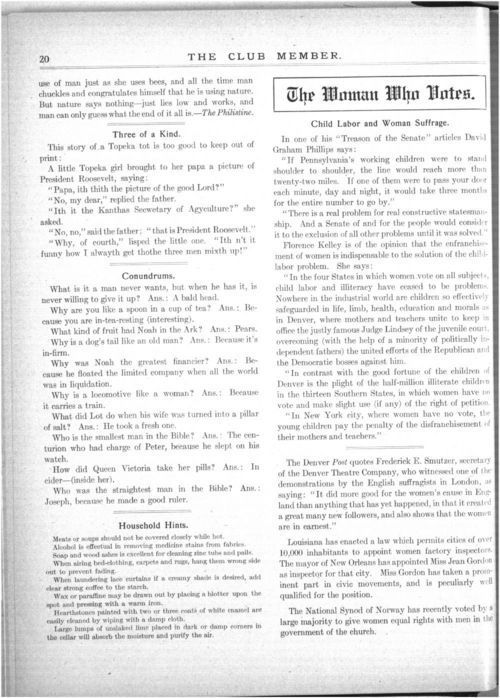 Child labor and woman suffrage - Page