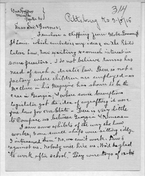 A. A. Hamilton to Arthur Capper - Page