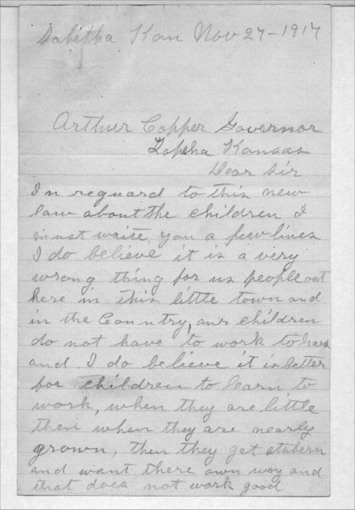 Emma Grimm to Arthur Capper - Page