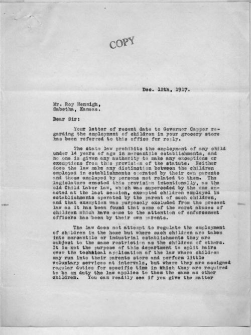 P. J. McBride to Roy Hennigh - Page