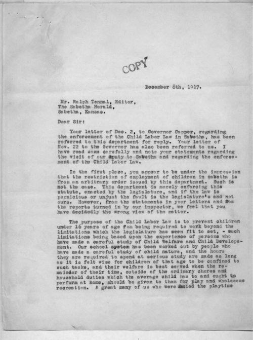 P. J. McBride to Ralph Tennal - Page