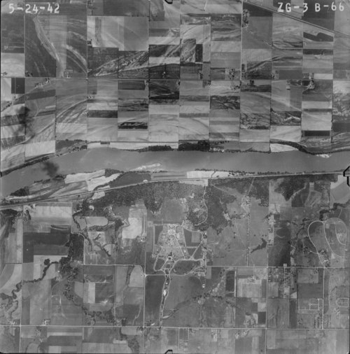 Aerial view of west Topeka, Kansas - Page