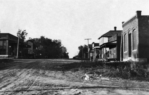 Street in Herkimer, Kansas - Page