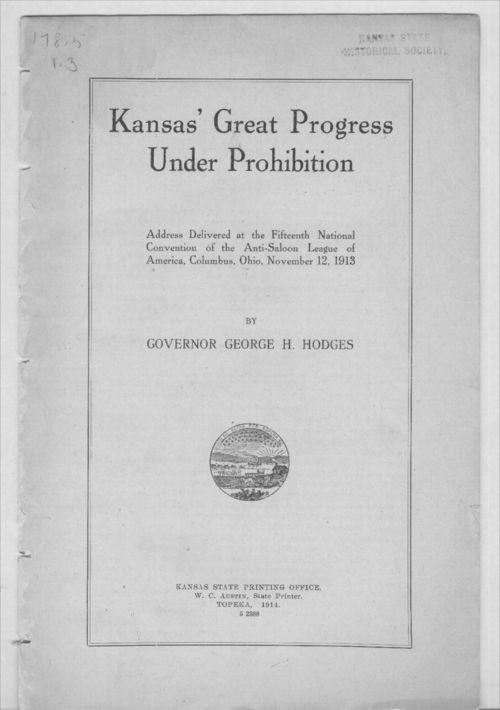 Kansas' great progress under prohibition - Page