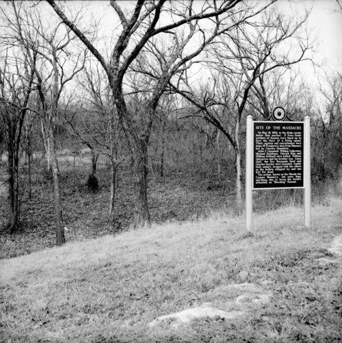 Marais des Cygnes Massacre park and marker, Linn County - Page