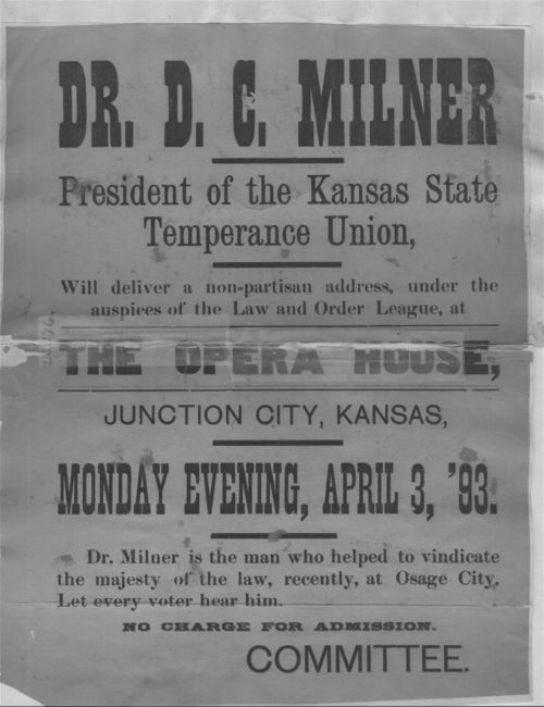Dr. D. C. Milner, President of the Kansas State Temperance Union - Page
