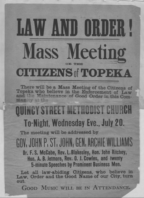 Law and order!  Mass meeting of the citizens of Topeka - Page