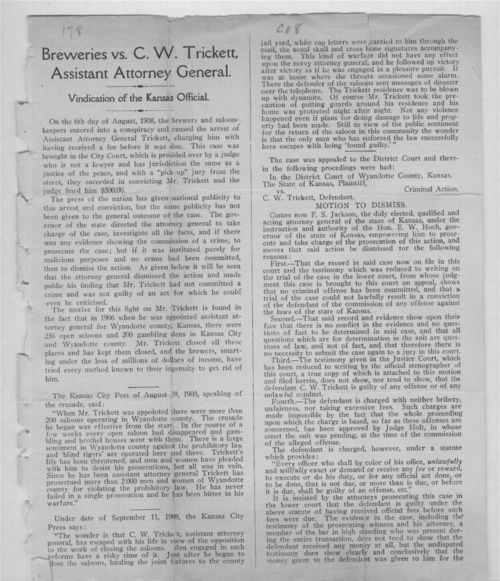 Breweries versus C.W. Trickett, Assistant Attorney General - Page