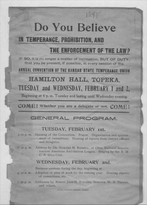 Do you believe in temperance, prohibition, and the enforcement of the law? - Page