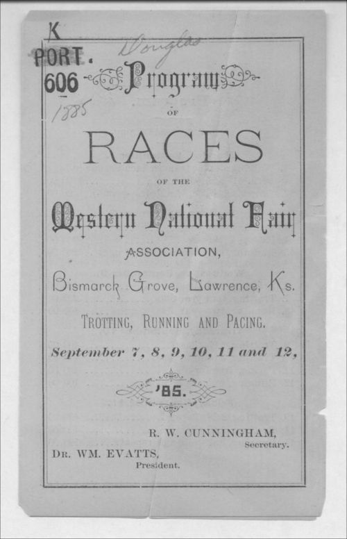 Program of races of the Western National Fair Association - Page