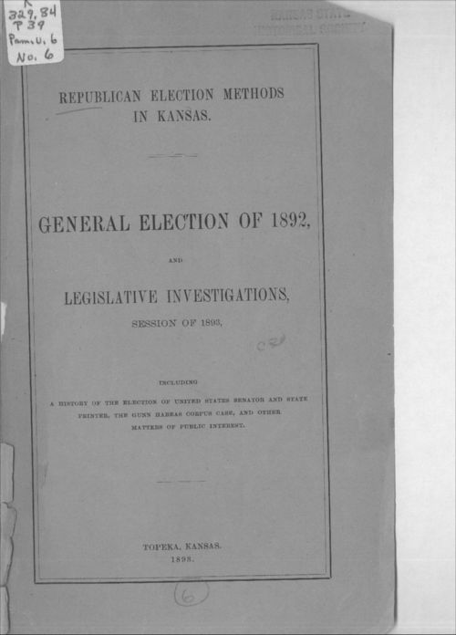 Republican Election Methods in Kansas - Page