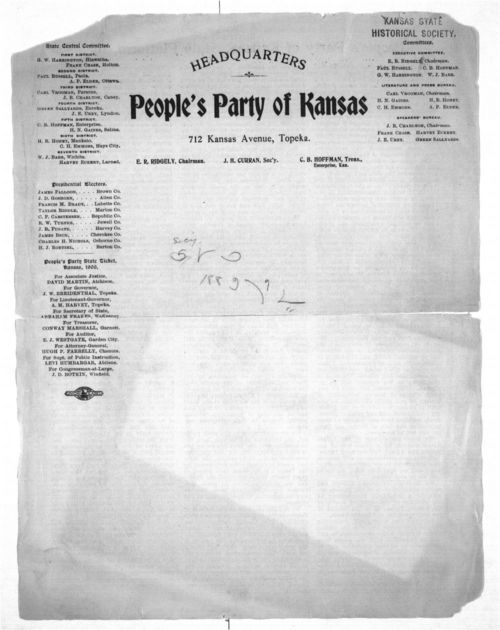 People's Party of Kansas, state platform, 1900 - Page