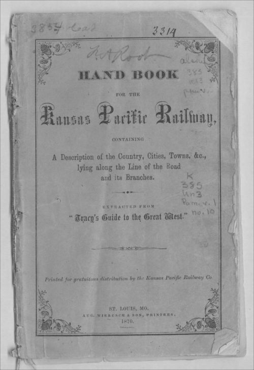 Hand book for the Kansas Pacific Railway - Page