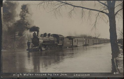 High water caused by ice jam, Lawrence, Kansas - Page