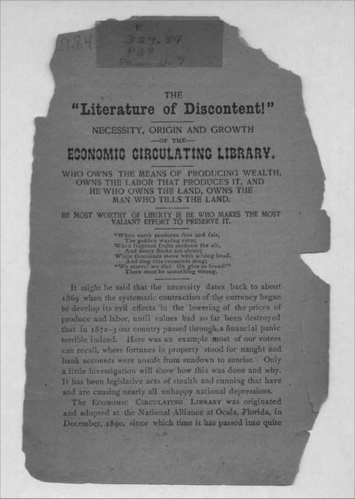 The literature of discontent!  Necessity, origin and growth of the economic circulating library - Page