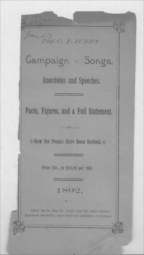 Campaign songs, ancedotes and speeches - Page