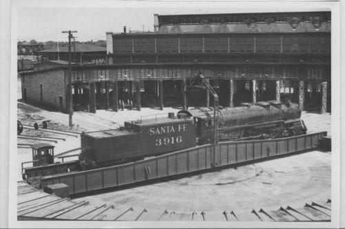 Atchison, Topeka and Santa Fe Railway Company's steam locomotive # 3916, Kansas City, Kansas - Page