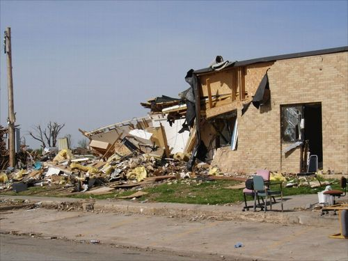 Damage from the Greensburg tornado