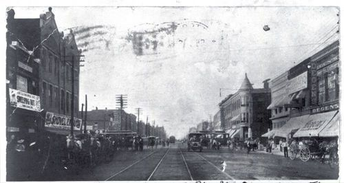 Broadway Avenue looking north, Pittsburg, Kansas - Page