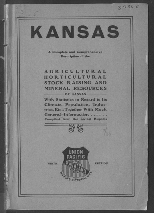 Kansas.  A complete and comprehensive description of the agricultural, horticultural, stock raising and mineral resources of Kansas - Page