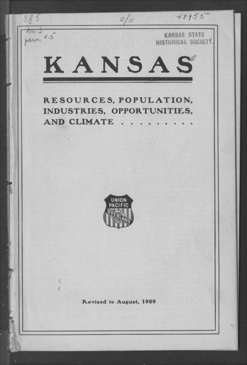 Kansas. Resources, population, industries, opportunities and climate - Page