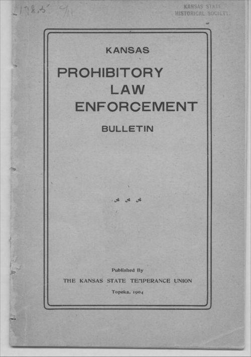 Kansas prohibitory law enforcement bulletin - Page